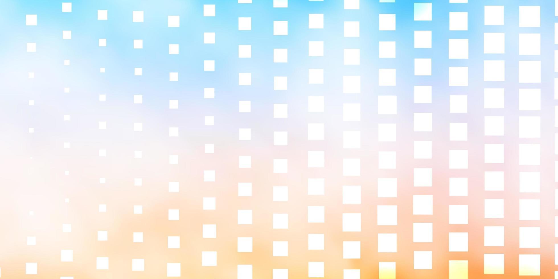 lichtblauw, geel sjabloon met rechthoeken. vector
