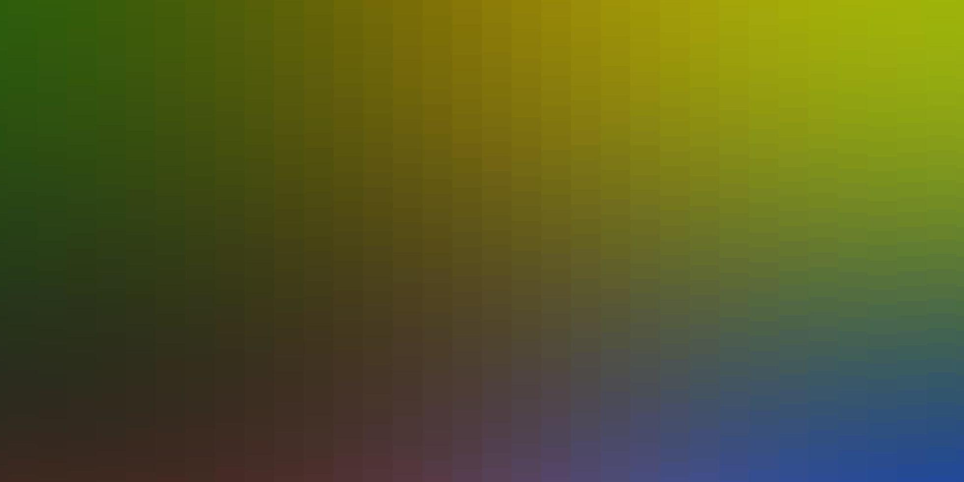 lichtblauw, geel sjabloon in rechthoeken. vector