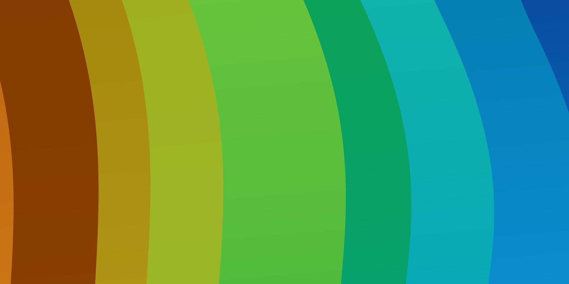lichtblauw, geel sjabloon met gebogen lijnen. vector