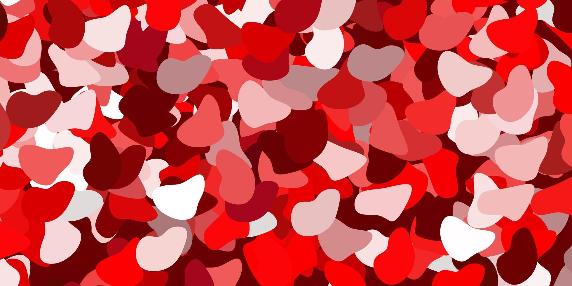 rode achtergrond met chaotische vormen. vector