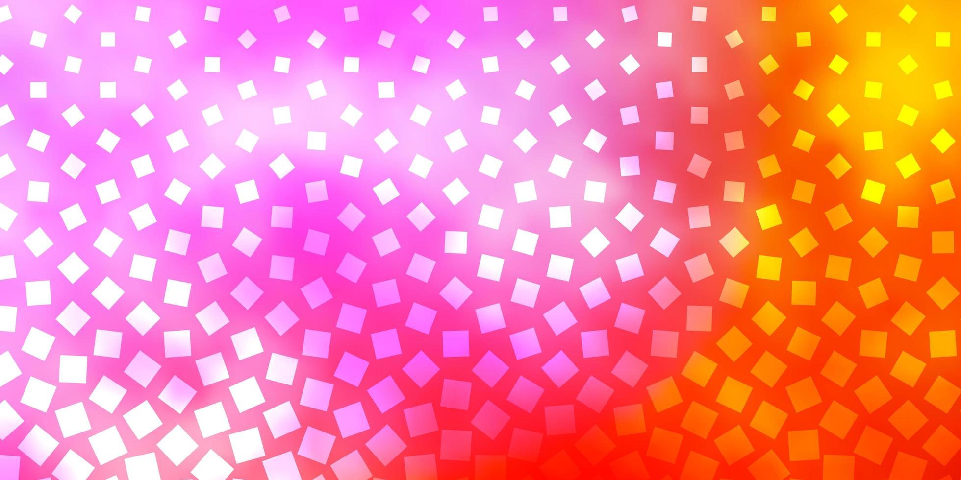 lichtroze, geel sjabloon in rechthoeken. vector