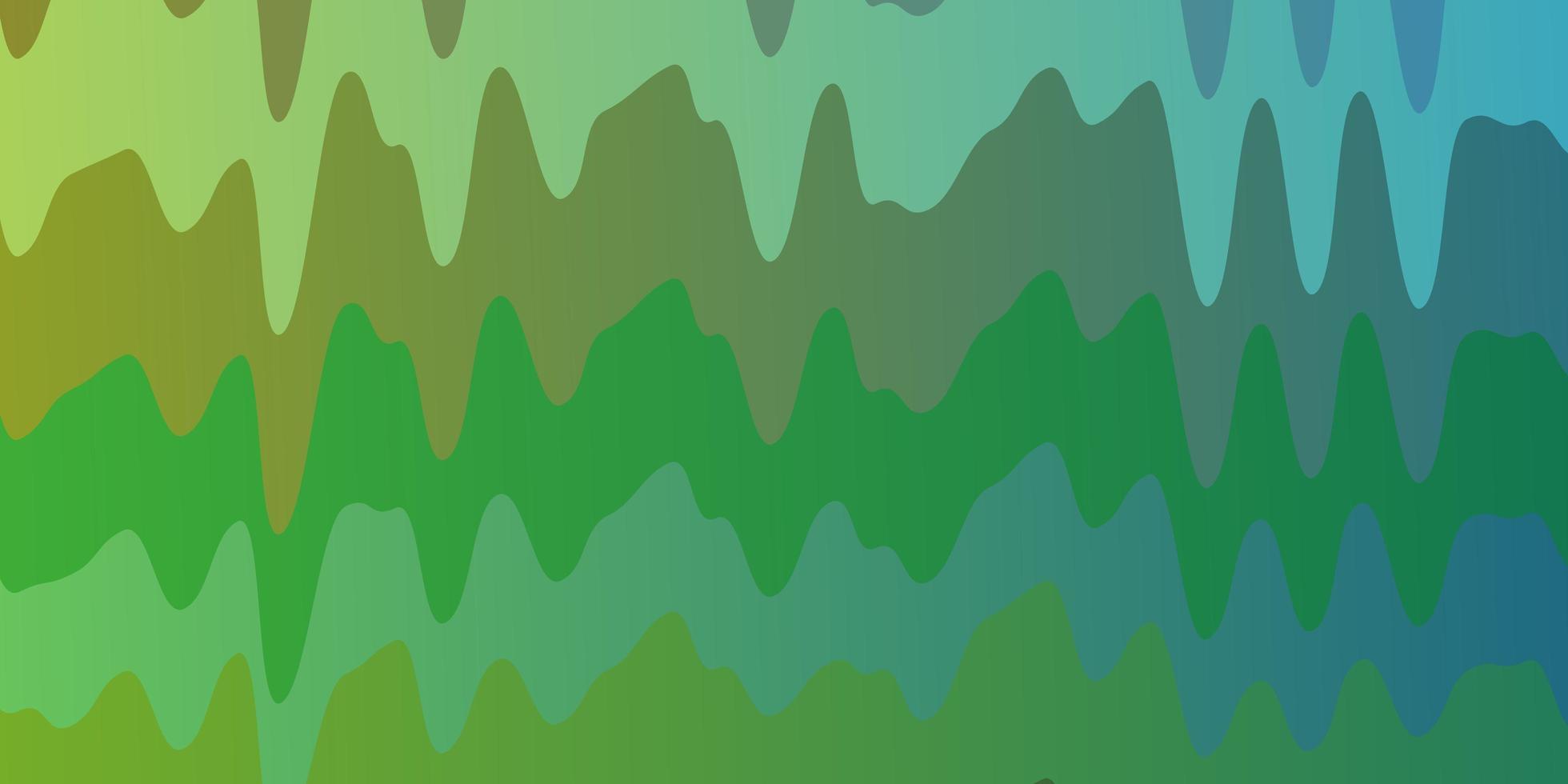 lichtgroen, geel sjabloon met gebogen lijnen. vector