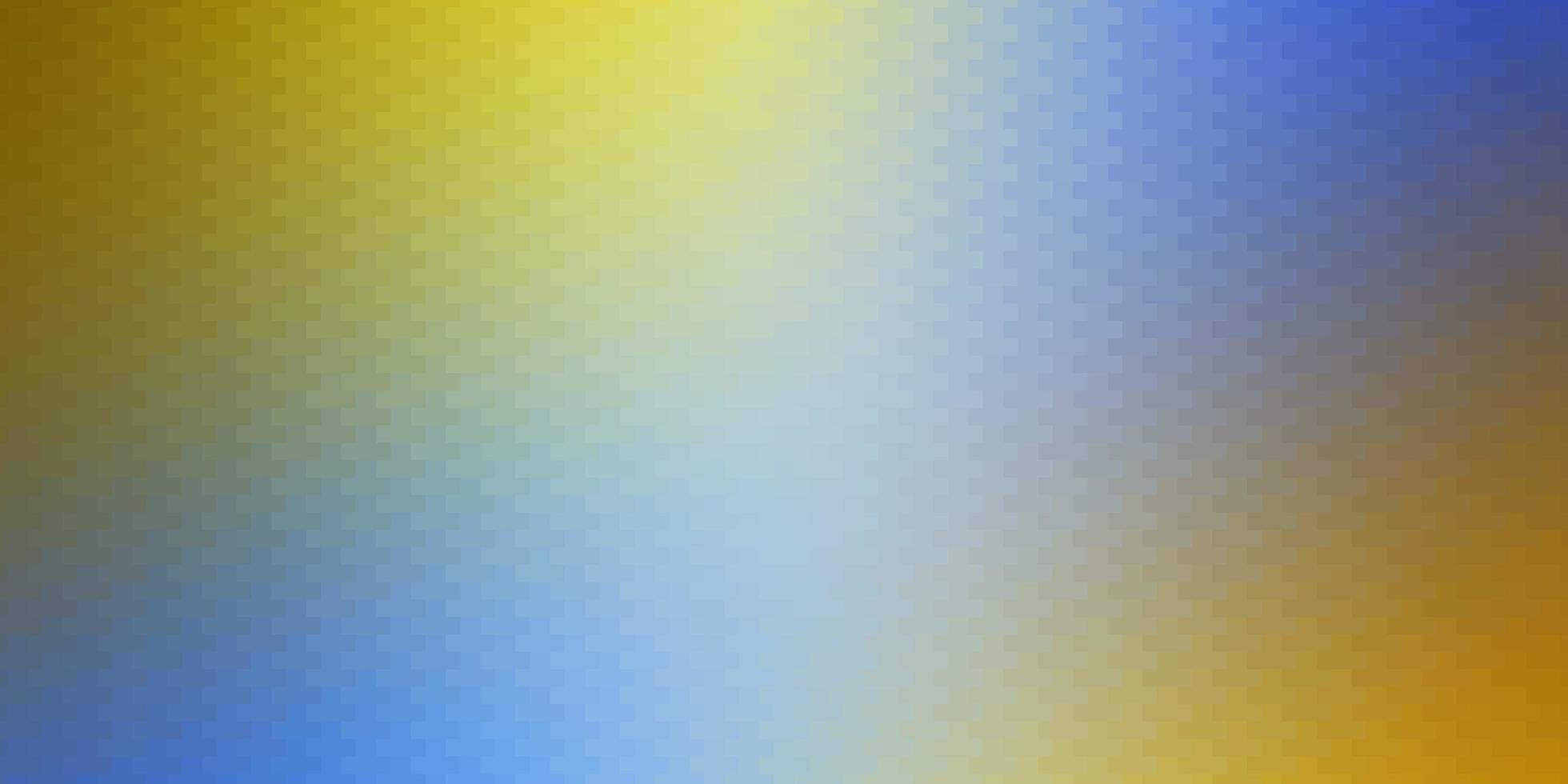 lichtblauwe, gele achtergrond met rechthoeken. vector