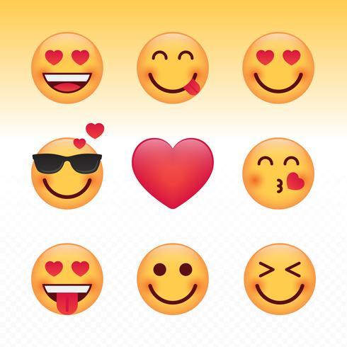 Love Valentijnsdag Emoji Set vector