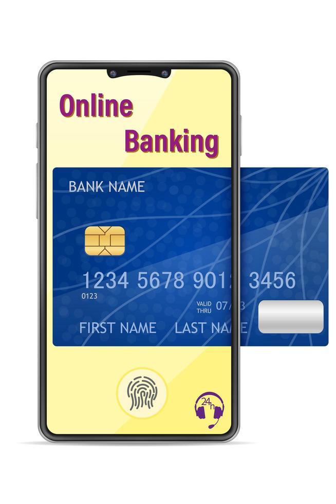 smartphoneconcept online bankieren vector