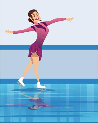 Olympische Winterspelen Kunstschaatsen vector