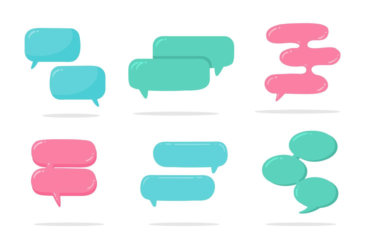 internet chat-bubbels vector