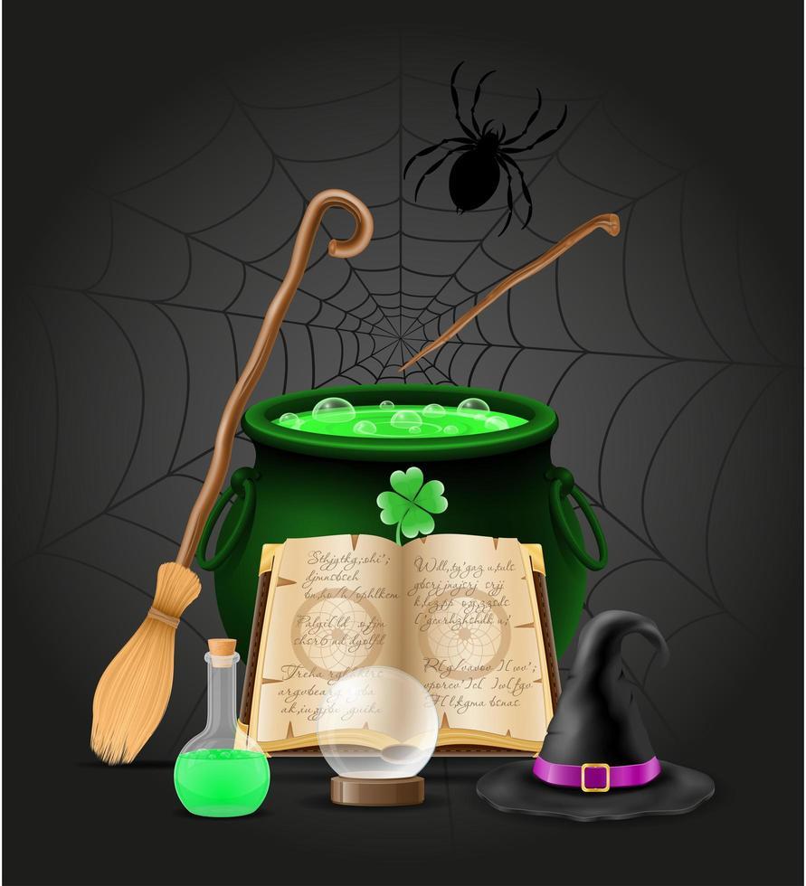 magische objecten voor hekserij vector