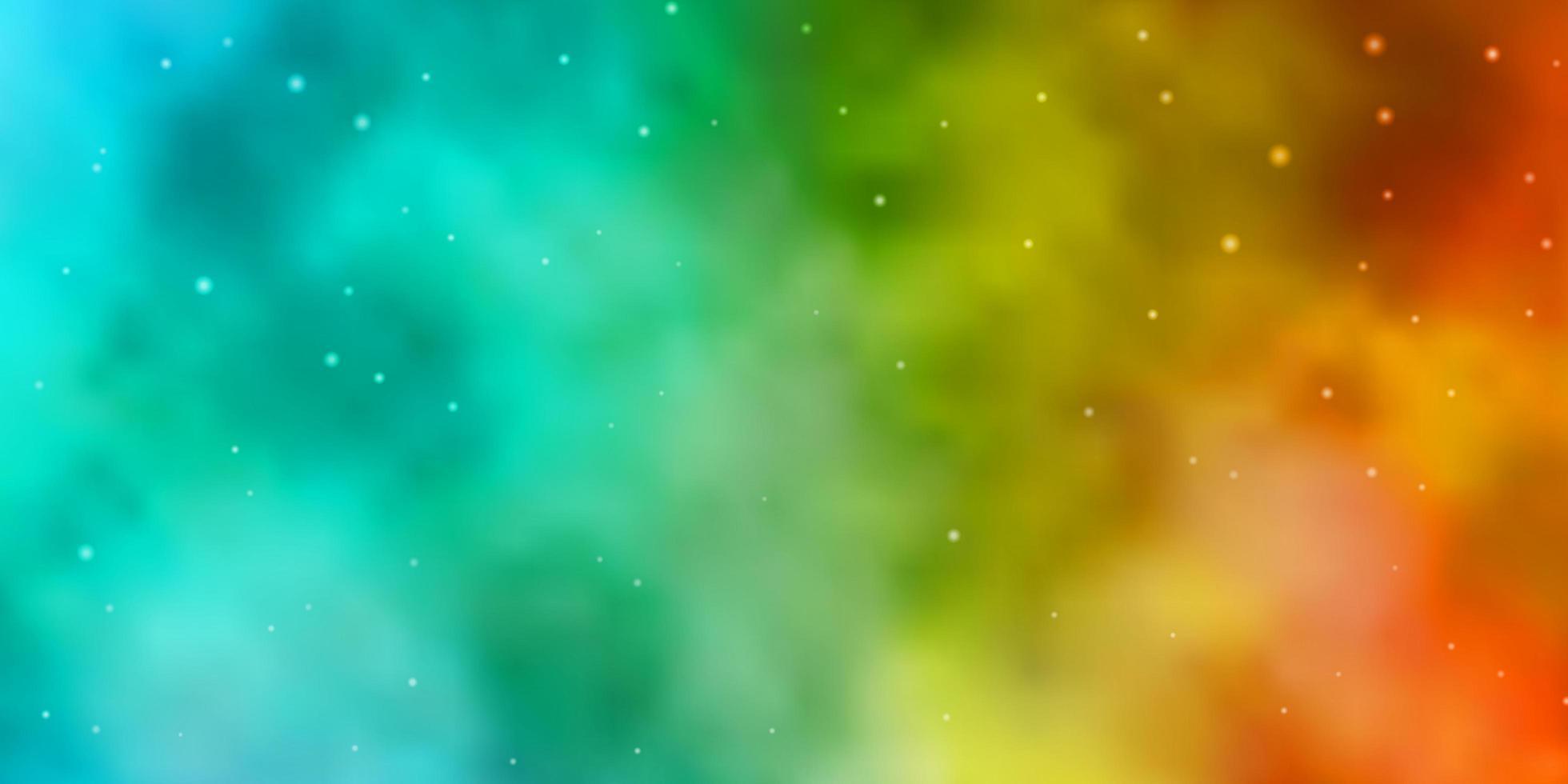 lichtblauwe, gele textuur met prachtige sterren. vector