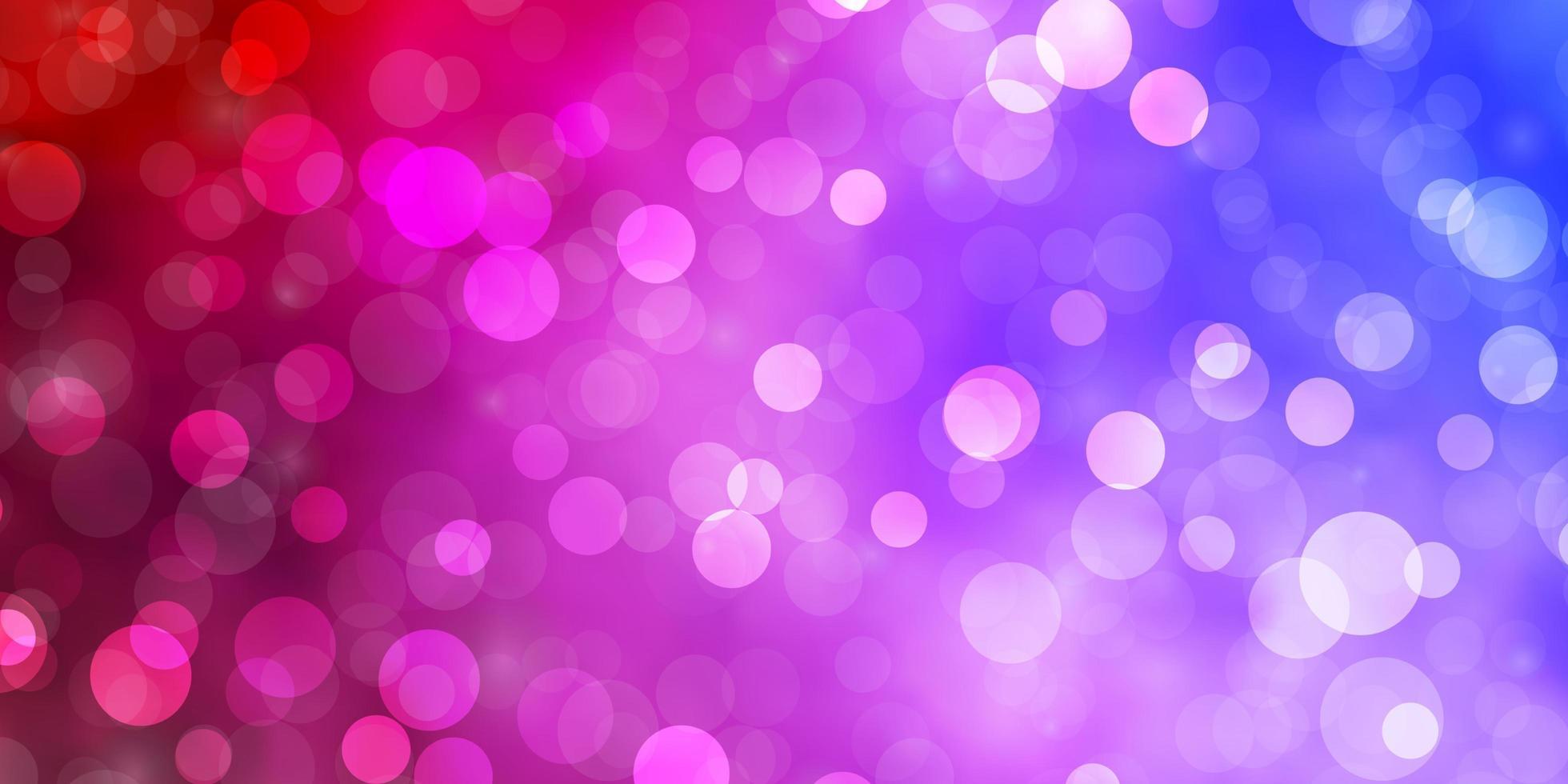 lichtblauwe, roze textuur met cirkels. vector