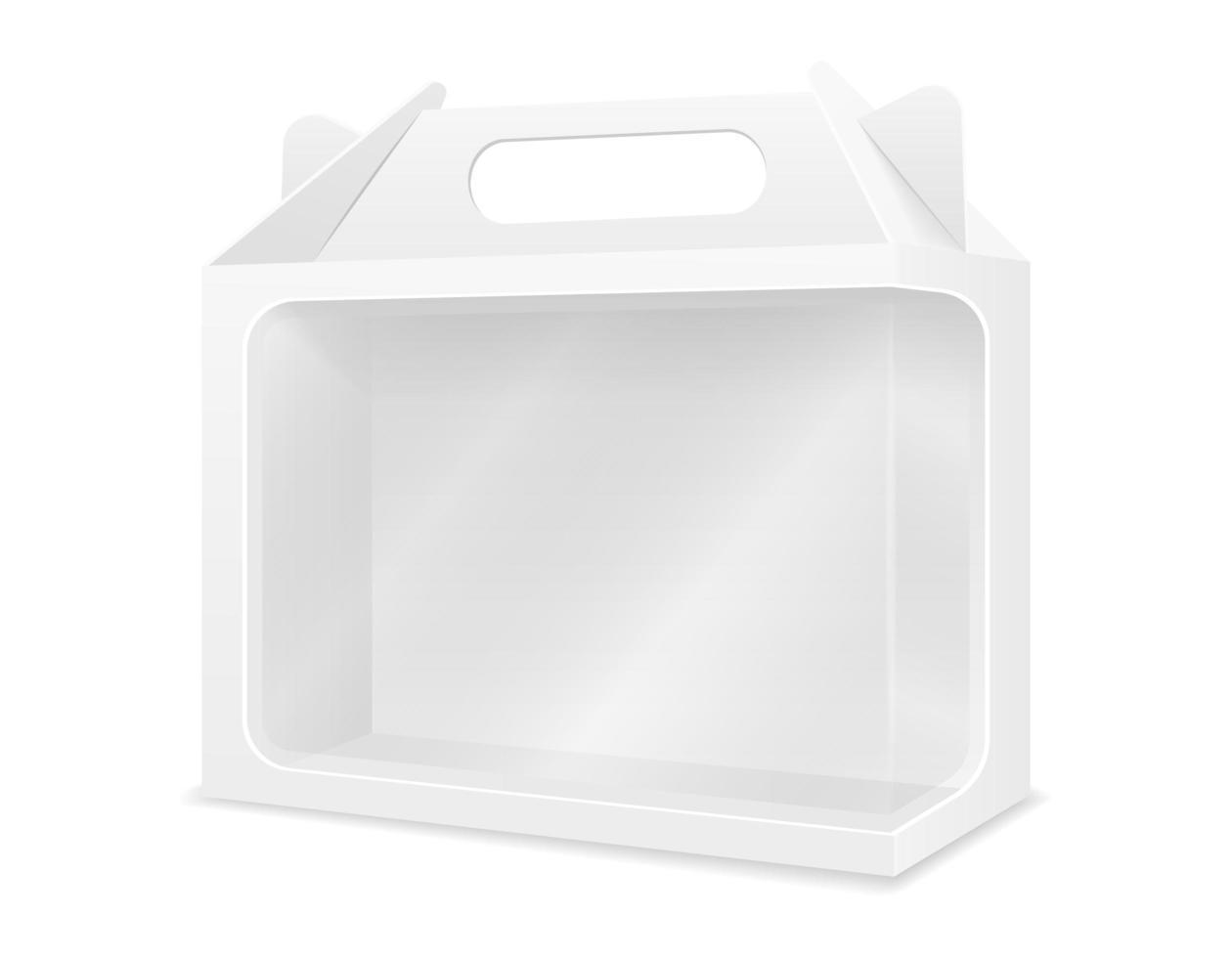 lege kartonnen doos verpakking lege sjabloon vector