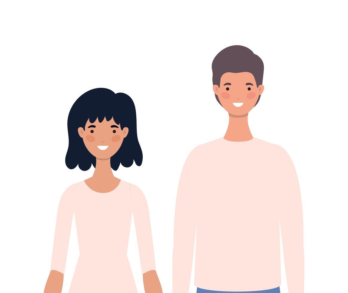 vrouwen en mannen avatars tekenfilms ontwerp vector