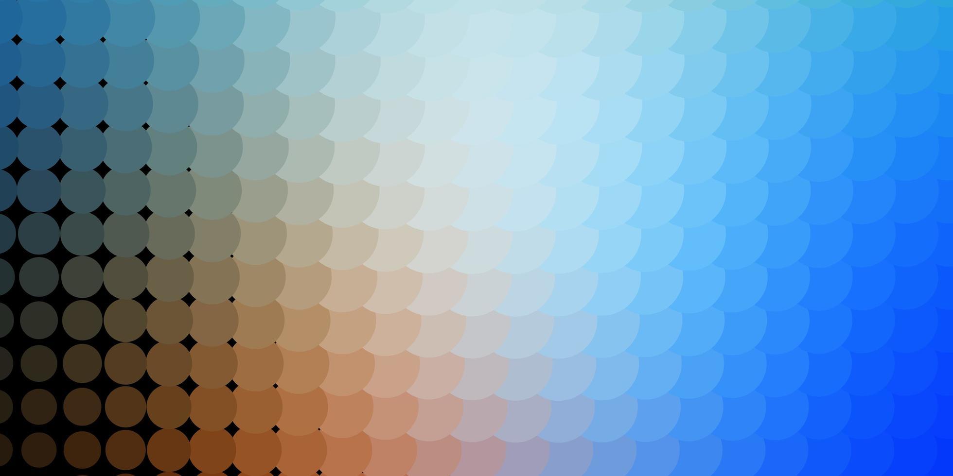 lichtblauwe, gele textuur met cirkels. vector