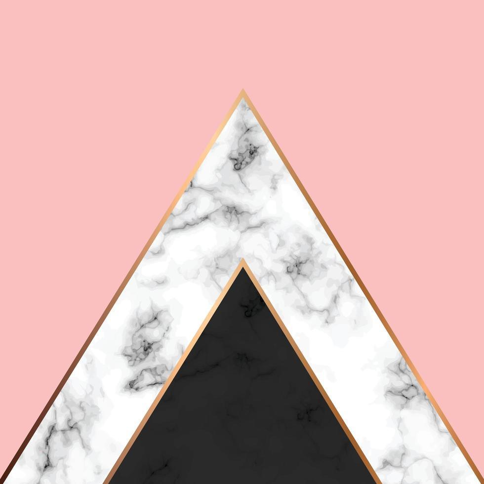 vector marmeren textuurontwerp met gouden geometrische lijnen