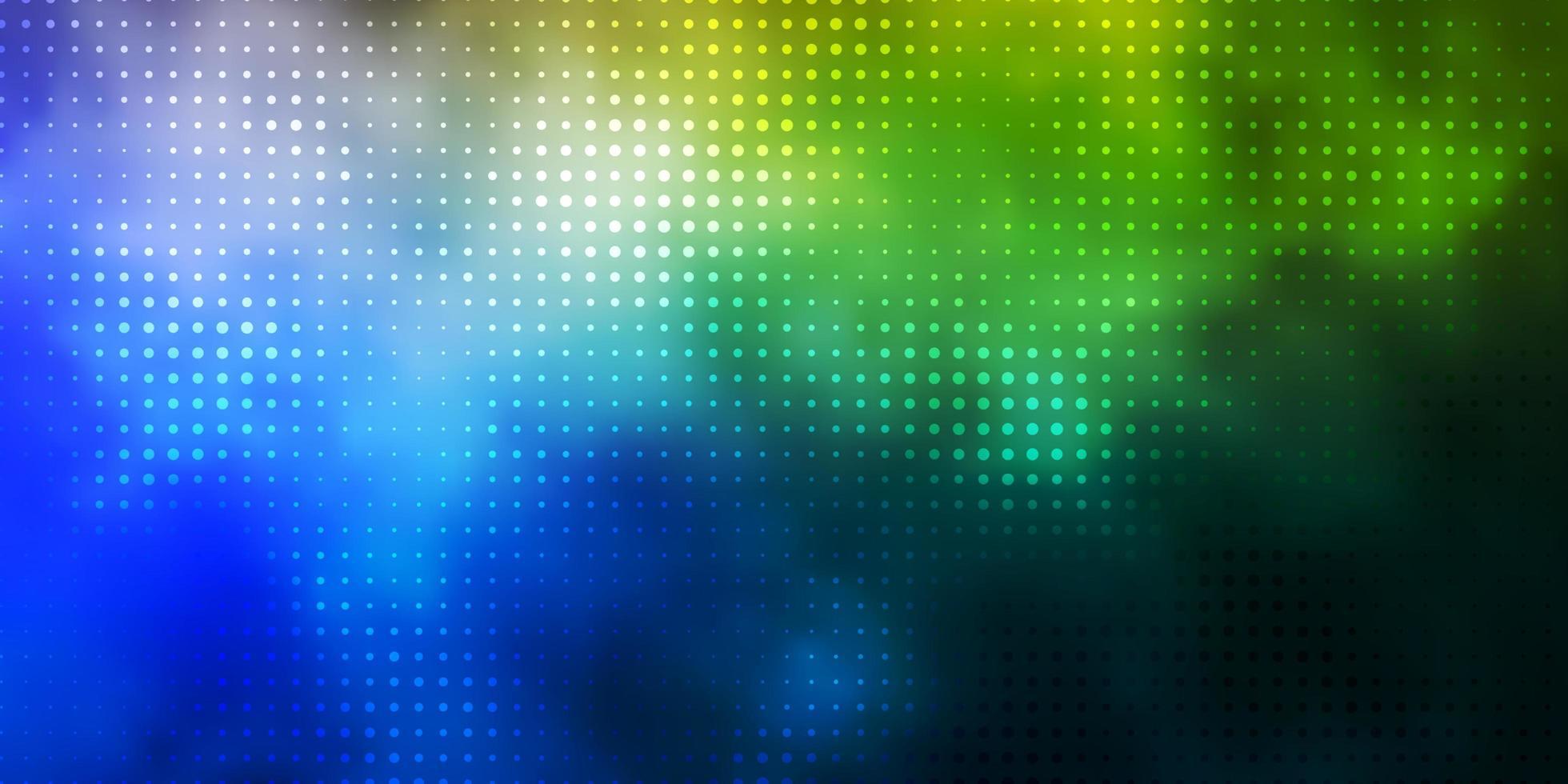 lichtblauw, groen patroon met bollen. vector