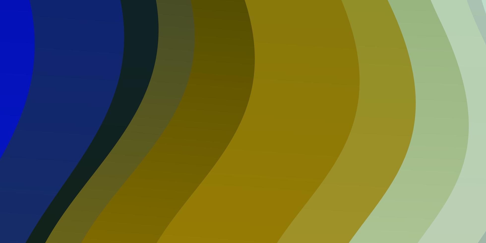 lichtblauwe, gele achtergrond met lijnen. vector