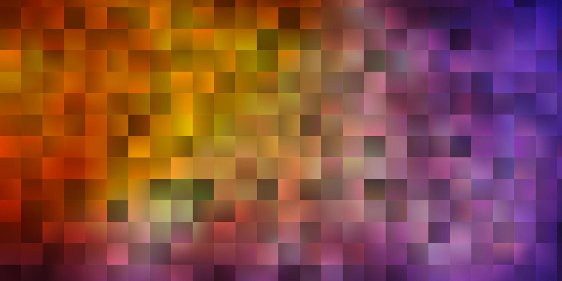 rode en gele lay-out met lijnen, rechthoeken. vector