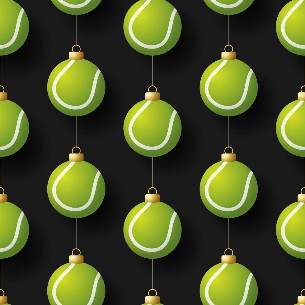 Kerst opknoping tennisbal ornamenten naadloze patroon vector