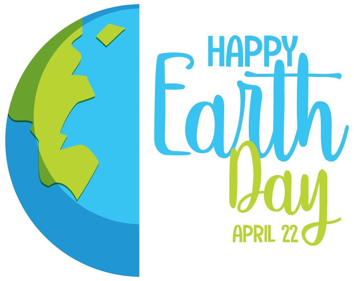 gelukkig aarde dag pictogram vector