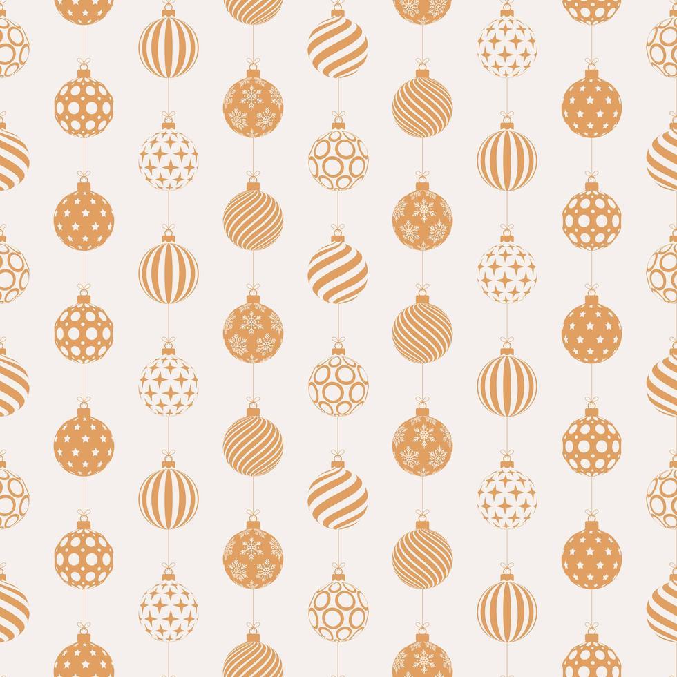 Kerst naadloze patroon met gouden en witte ballen vector