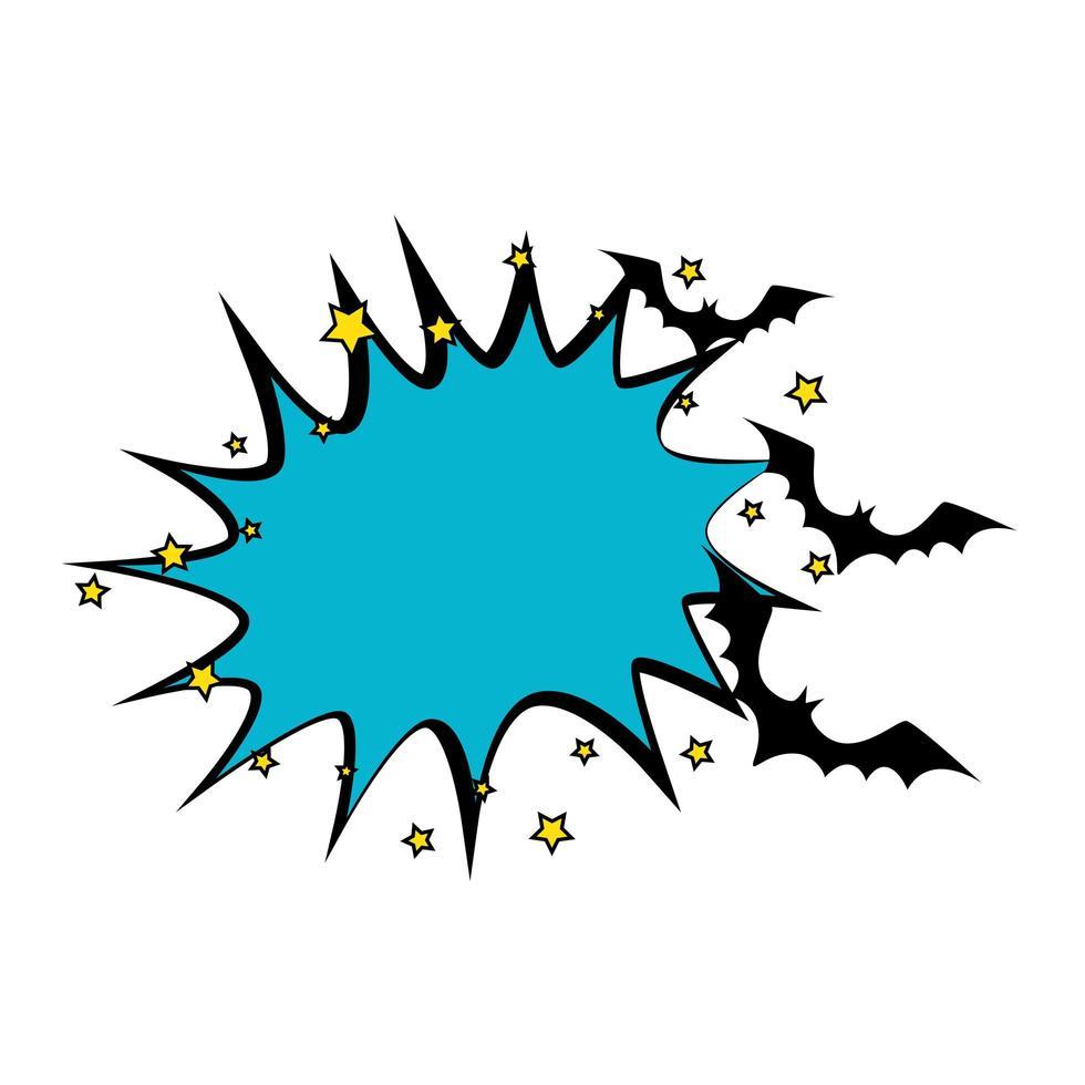 popart halloween vliegende vleermuizen vector