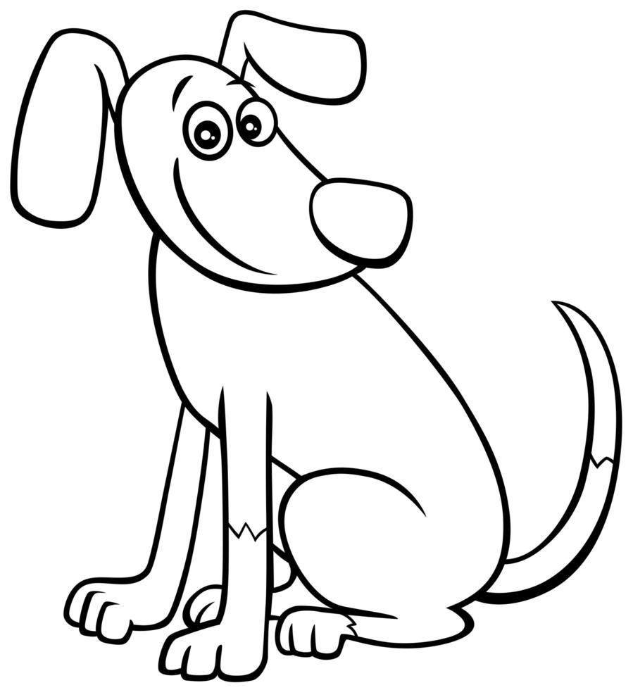 cartoon hond of puppy karakter boekenpagina in kleur vector