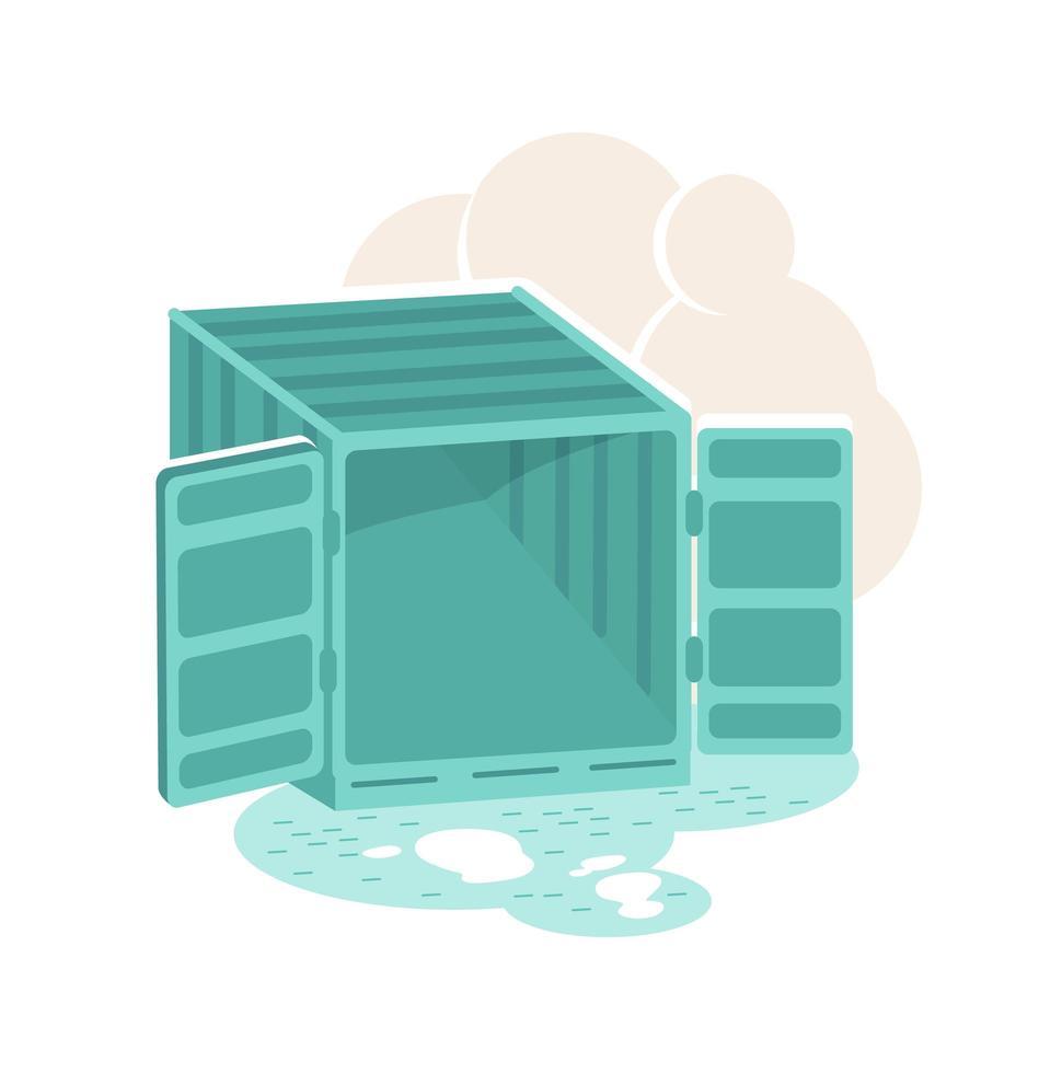 open lege container vector