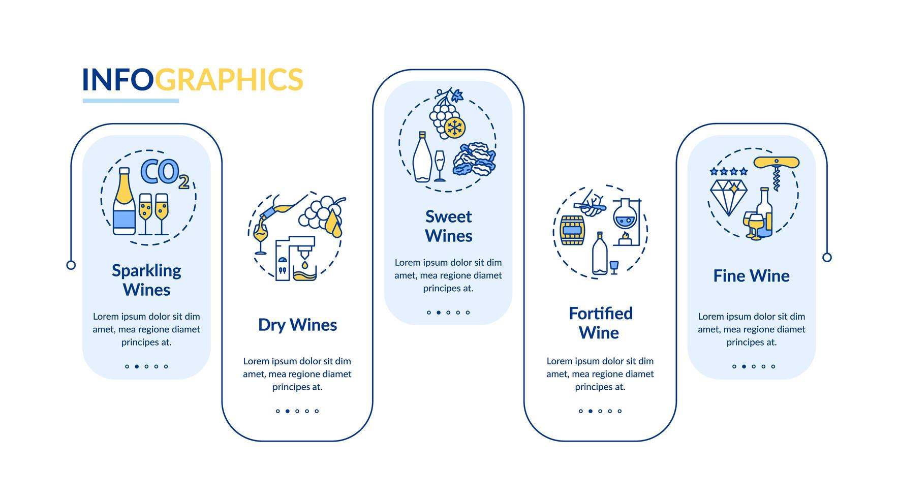 wijnproeverij infographic sjabloon. vector