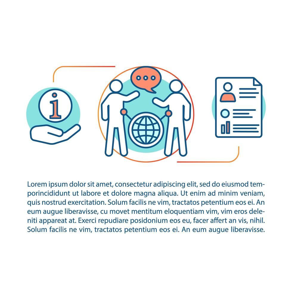 communicatieve vaardigheden concept vector