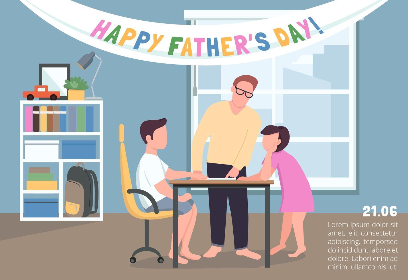 gelukkige vaderdag poster vector
