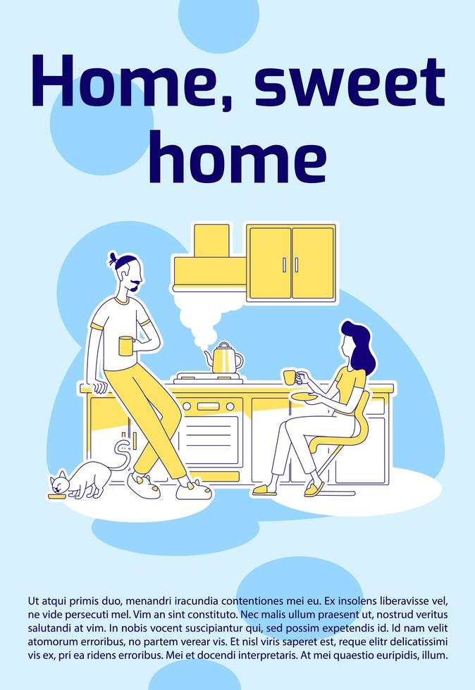 home, sweet home poster vector