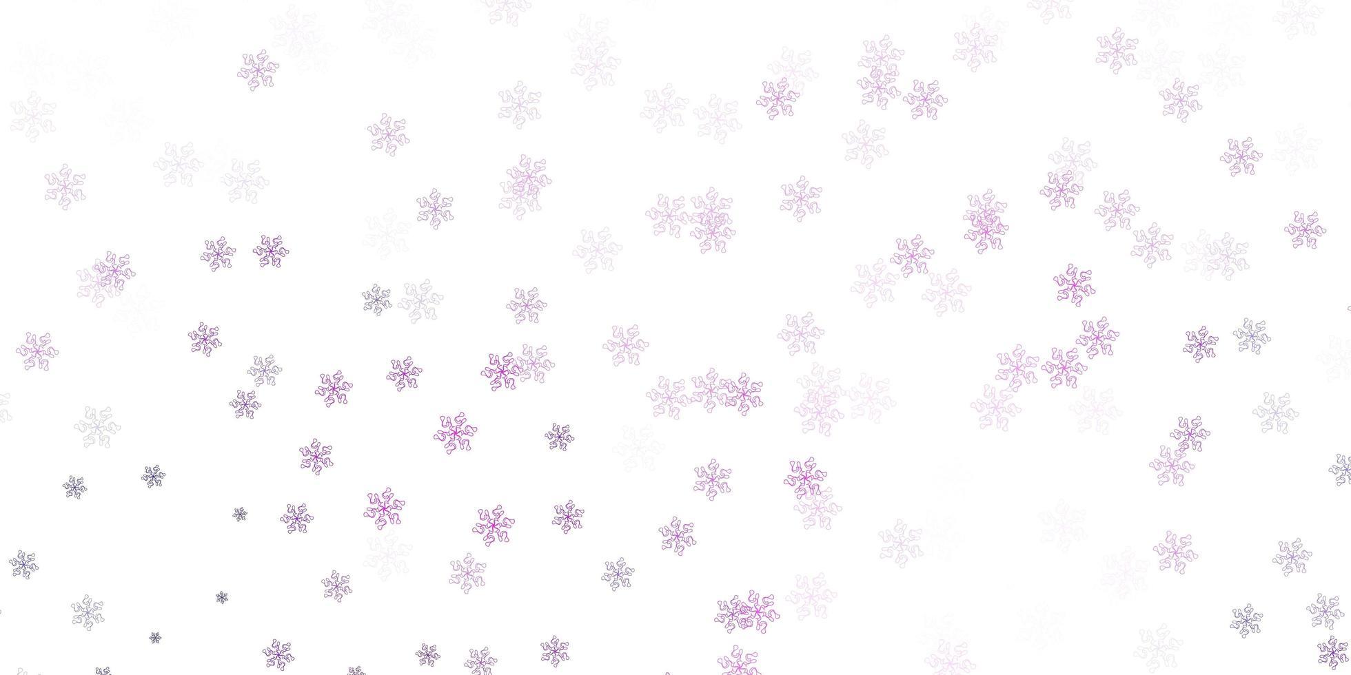 lichtpaarse, roze natuurlijke lay-out met bloemen. vector