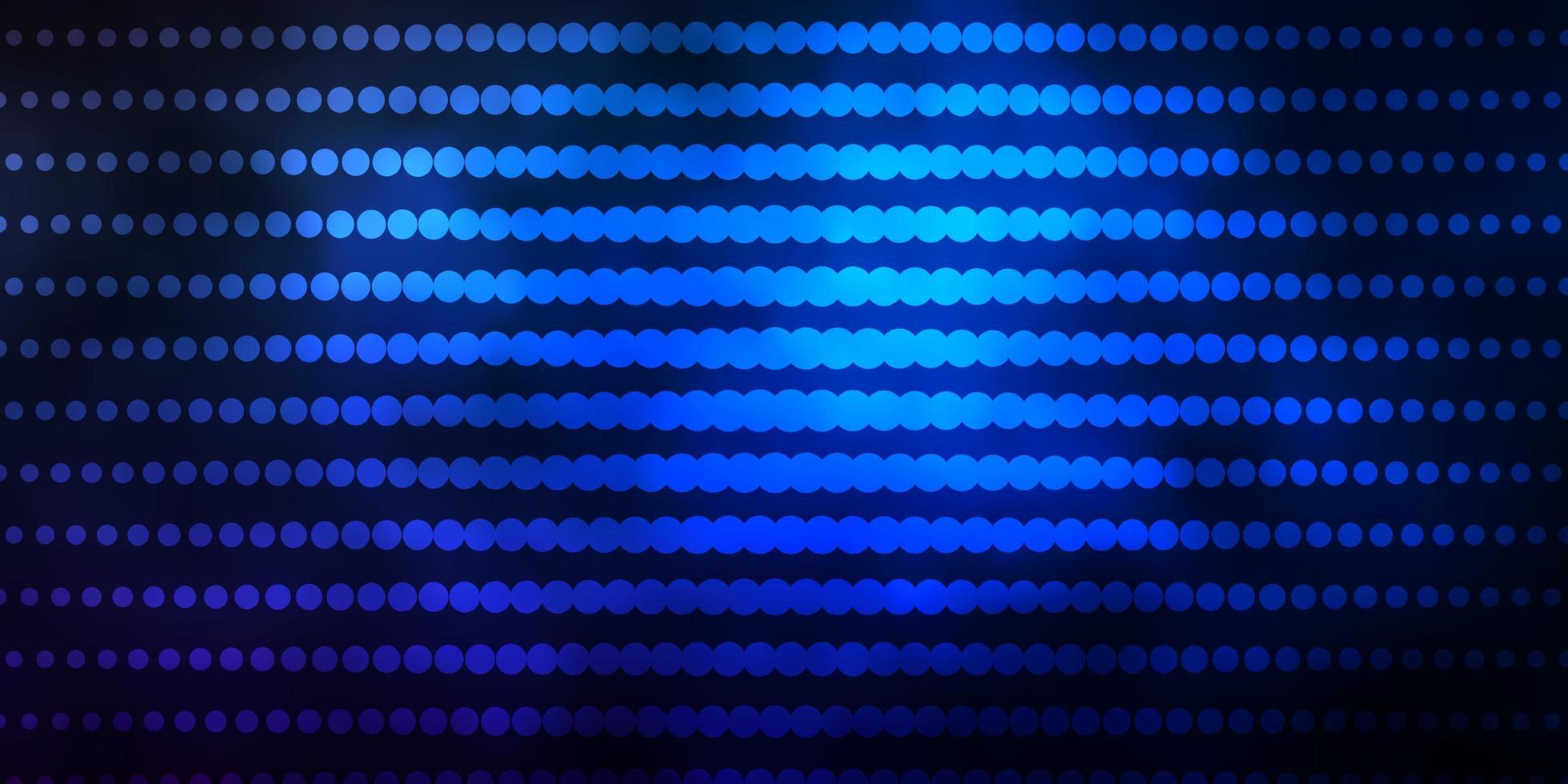 donkerblauwe achtergrond met cirkels. vector