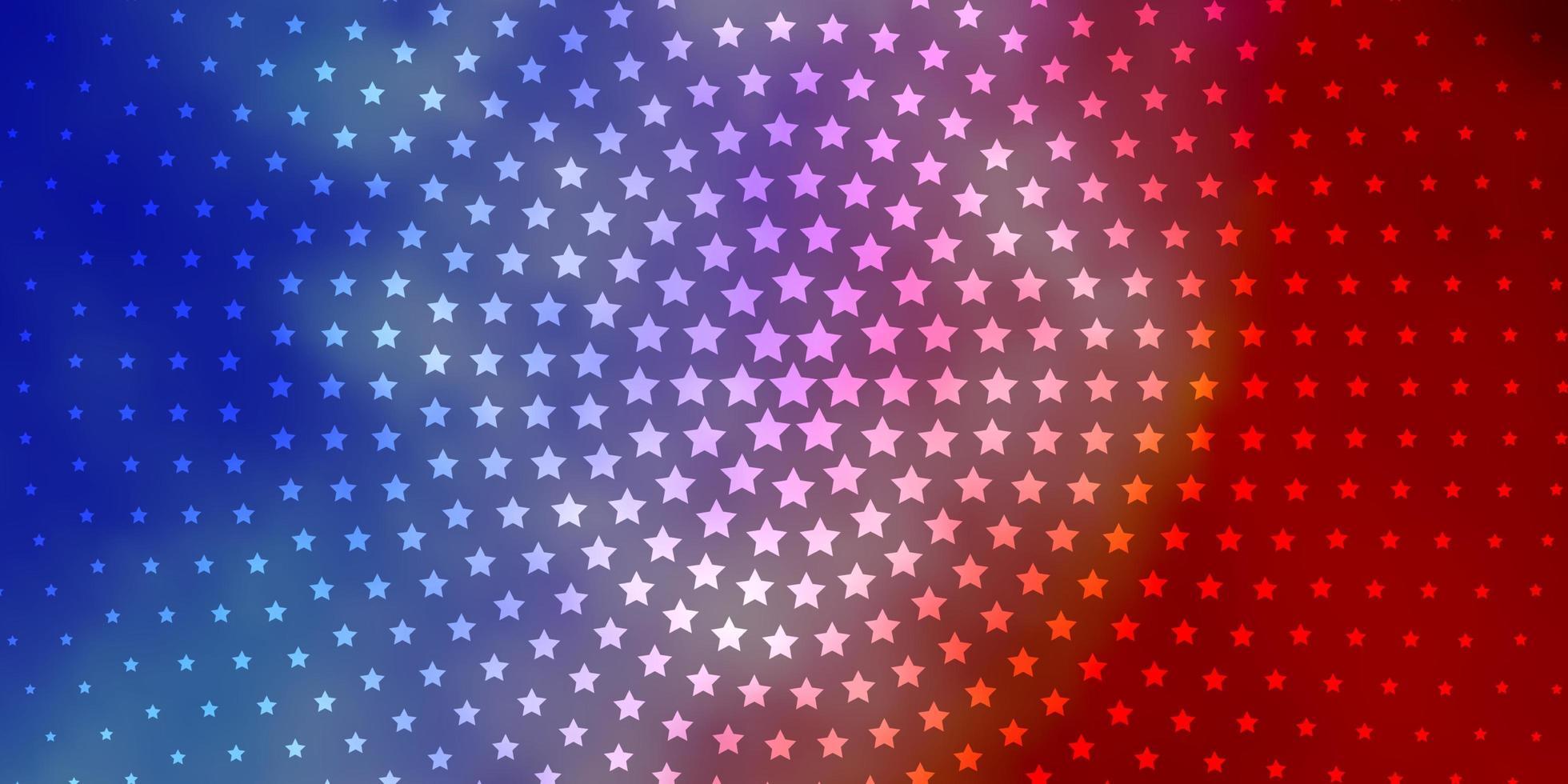 lichtblauwe, rode lay-out met heldere sterren. vector