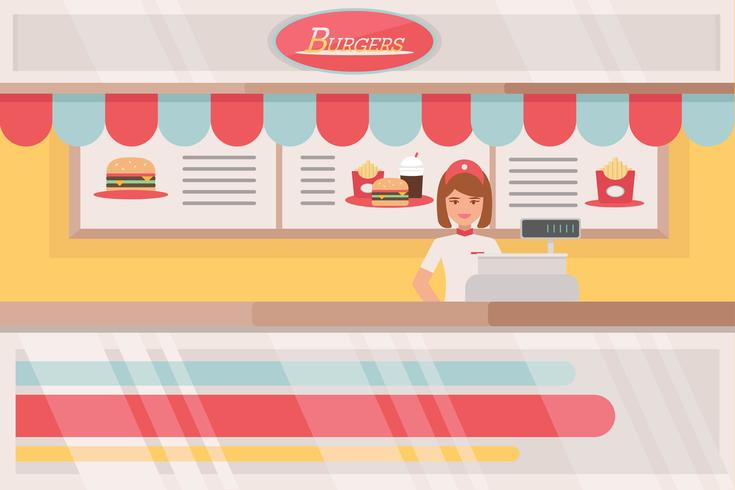 food court vectoren