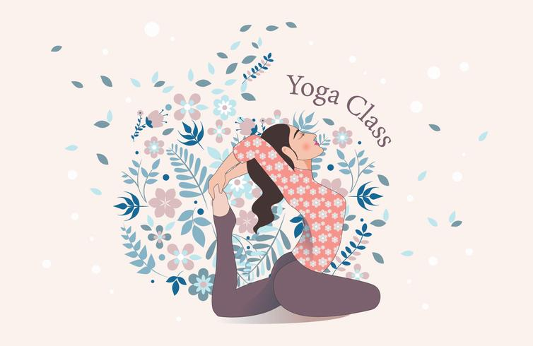 Yoga klasse Vector