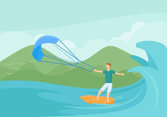 Gratis uitstekende vectoren voor kitesurfen