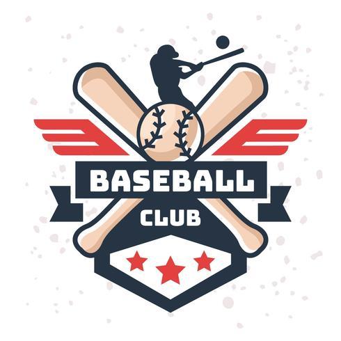 Vintage honkbal-logo vector