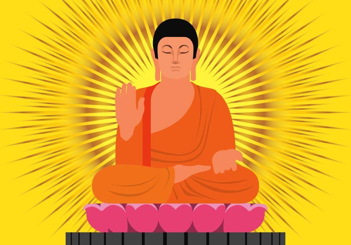 Boeddha in bescherming positie illustratie vector