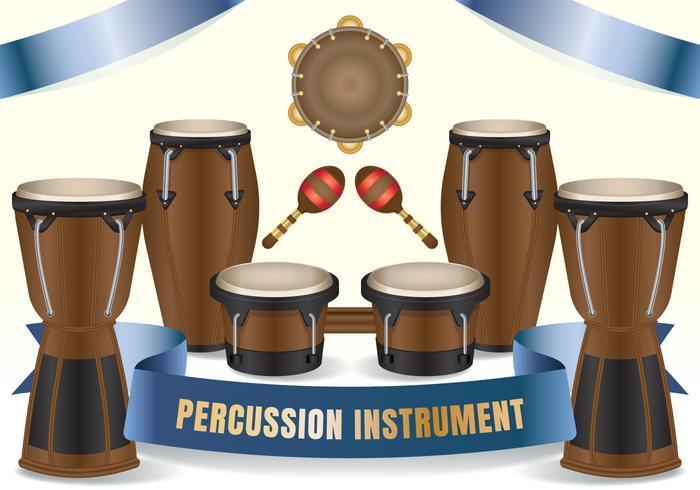 Afrikaanse etnische conga bongos salsa drums vector