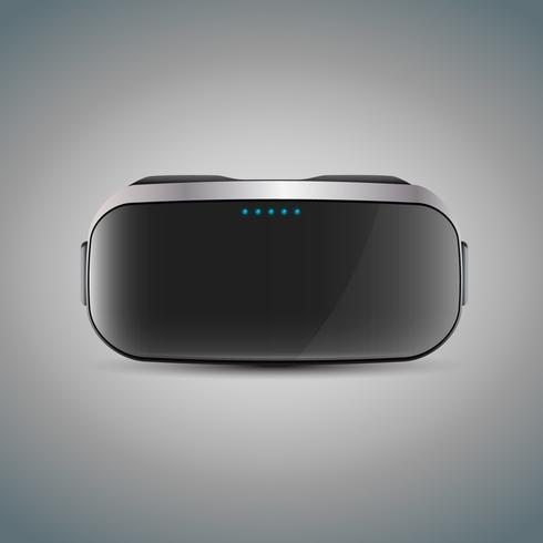 Virtual Reality Ervaar een bril of headset vector