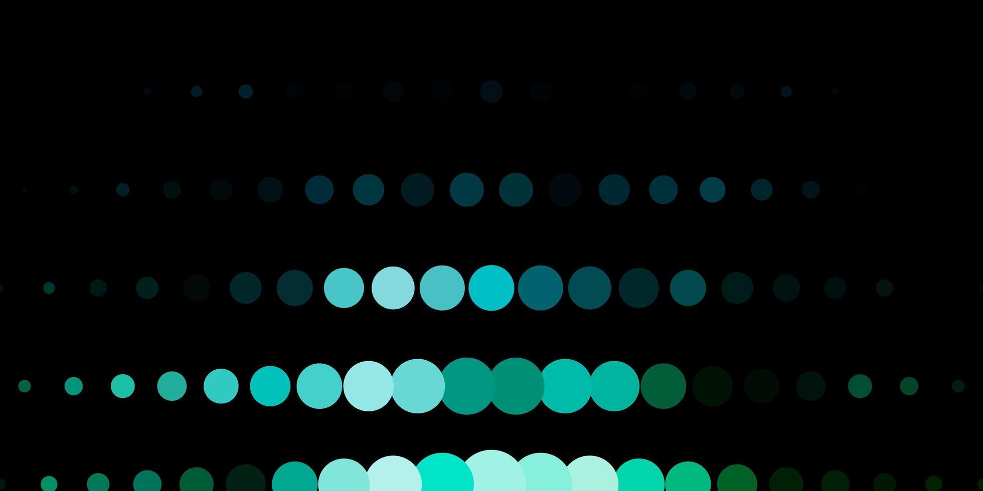 donkerblauwe, groene vectorachtergrond met stippen. vector