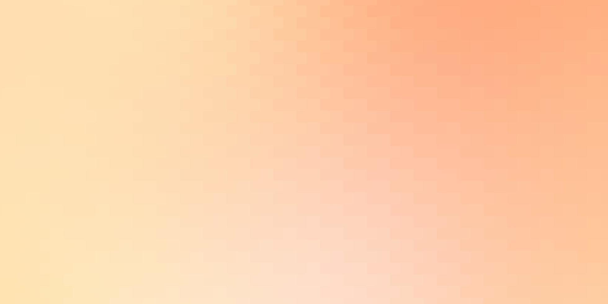 lichtoranje vectorachtergrond met rechthoeken. vector