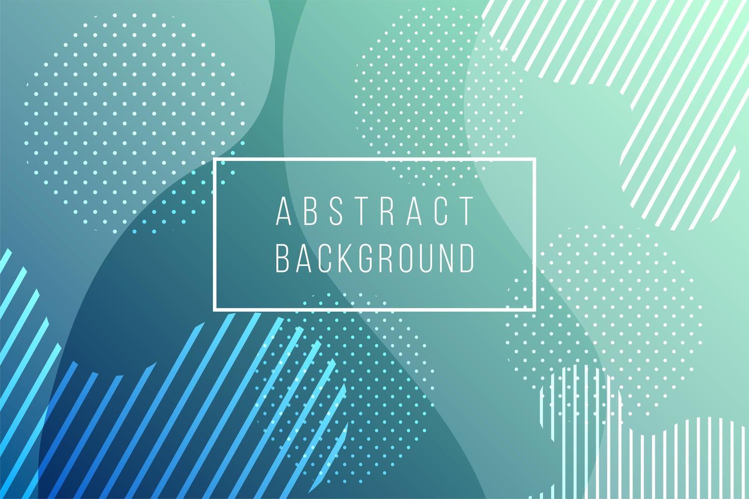 kleurrijke groene abstracte geometrische achtergrond vector