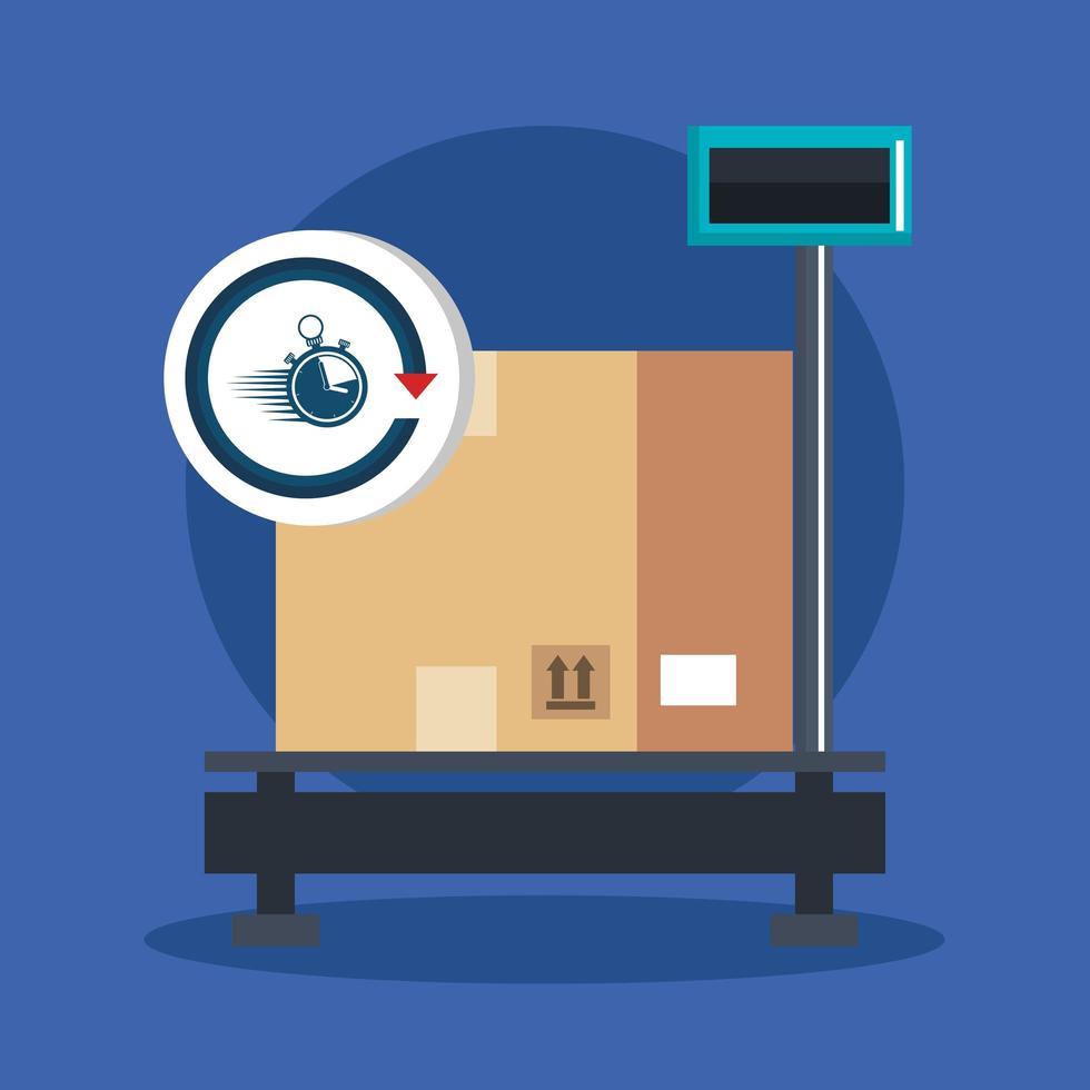 levering en logistiek banner vector