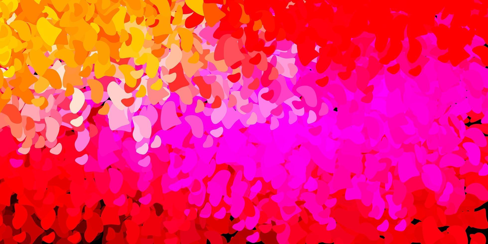 lichtroze, gele vectortextuur met Memphis-vormen. vector