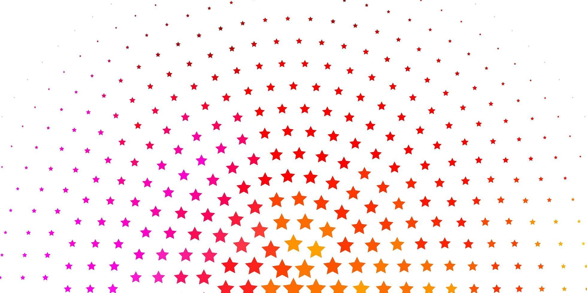 lichtroze, geel vectorpatroon met abstracte sterren. vector