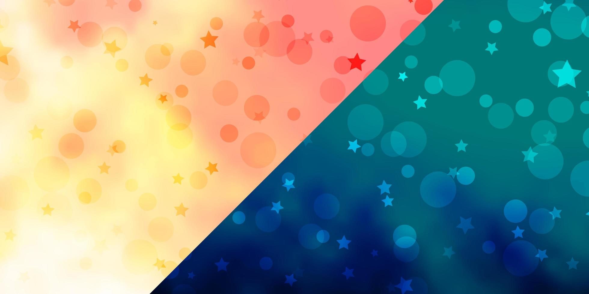 vector achtergrond met cirkels, sterren.