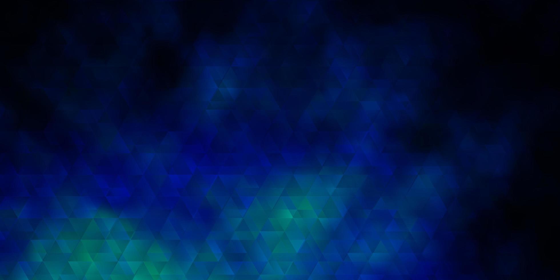 donkerblauw vector sjabloon met lijnen, driehoeken.