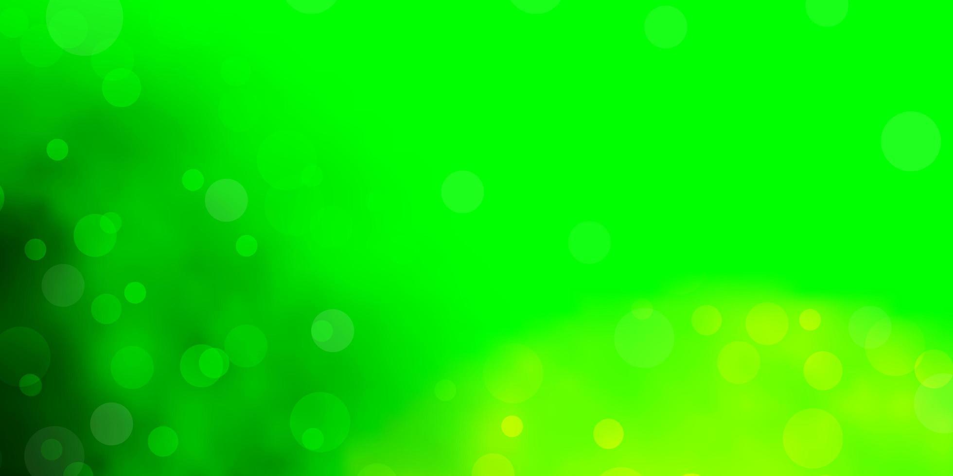 lichtgroene vector achtergrond met bubbels.